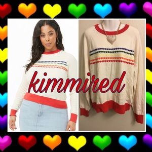 🆕 Forever 21 Rainbow Heart Sweater ~ 2X ~ NWT